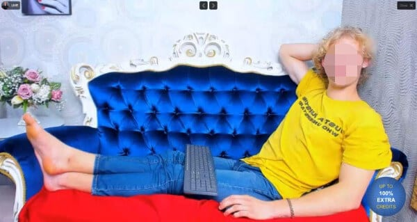 CameraBoys male model in yellow shirt