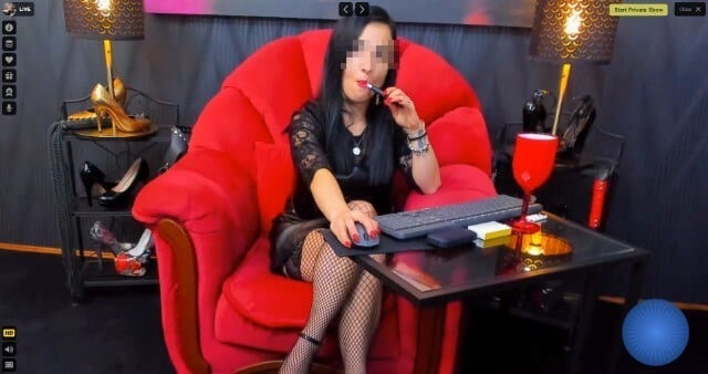 LivePrivates fetish mistress chatting