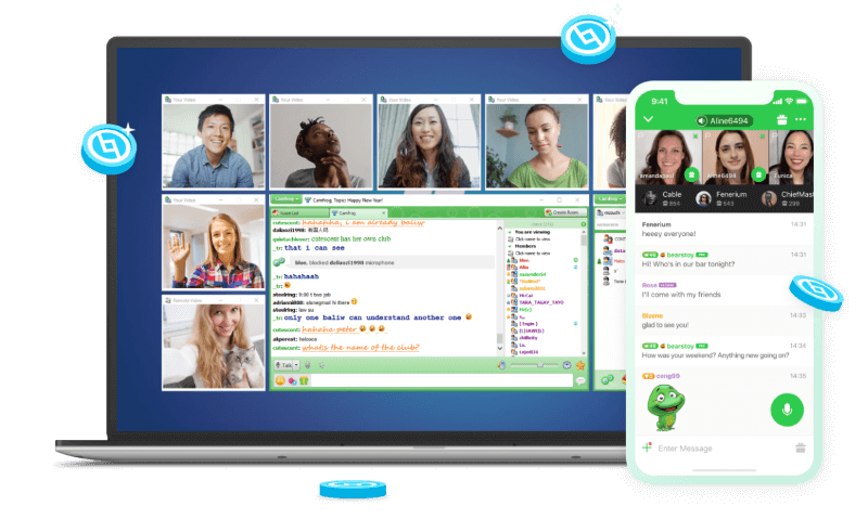 Camfrog chat screen view