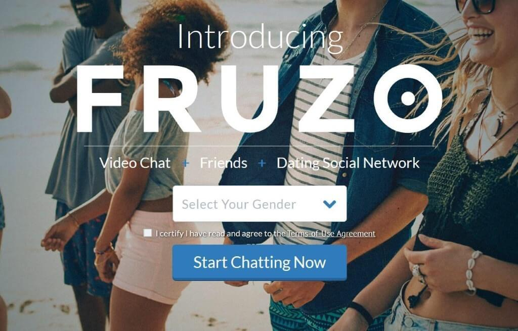 Fruzo Chat homepage view
